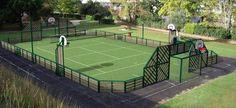 Terrain de tennis avec dimensions tennis pinterest for Longueur terrain de tennis