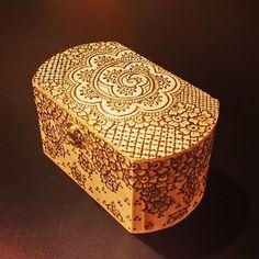 7.5x4x4 inch henna mehndi mehendi jewelry box by NewWorldHenna, $35.00