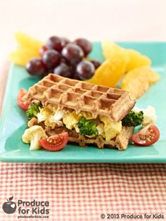 Scrambled Waffle Sandwich - a fun way to switch up your breakfast sandwich