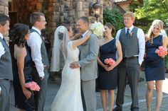 Our Wedding Party Pink & Navy Wedding. Bridesmaids. Groomsmen ...