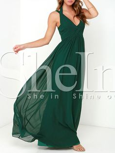 Shop Dark Green Sleeveless Maxi Dress online. SheIn offers Dark Green Sleeveless Maxi Dress & more to fit your fashionable needs.