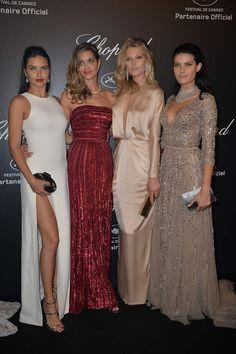 Adriana Lima, Ana Beatriz Barros, Toni Garrn e Isabeli Fontana at Chopard Gold Party in Cannes 2015
