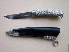 Купить Мелкий варвар - нож, Нож ручной работы, ножны, варвар, скандинавский узор, резьба