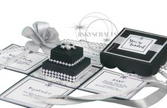 Chanel Inspired Invitations/ Chanel Bridal Shower Invitations/Chanel Wedding Invitations