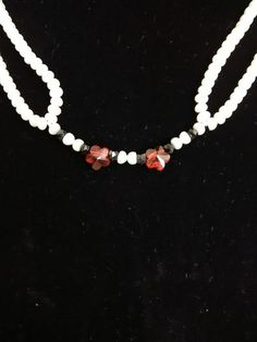 Fresh water pearls and crystal necklace