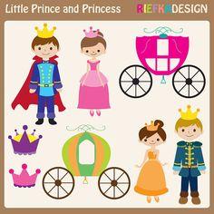 Plantillas infantiles. Príncipes y princesas. Carrozas