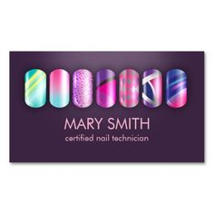 Cool Nail Tech Manicurist Business Card Template