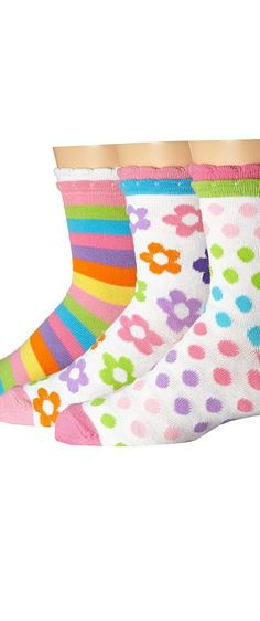 Jefferies Socks Daisy/Stripe/Dots Crew 3-Pack (Infant/Toddler/Little Kid/Big Kid) (Multi) Girls Shoes - Jefferies Socks, Daisy/Stripe/Dots Crew 3-Pack (Infant/Toddler/Little Kid/Big Kid), 2805, Footwear Socks Crew Cut, Crew Cut, Socks, Footwear, Shoes, Gift - Outfit Ideas And Street Style 2017