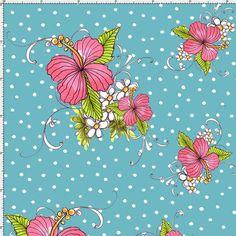 Lady Luau Turquoise Fabric Yard