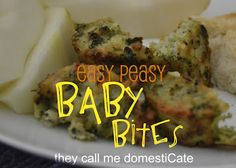 they call me domestiCate: Easy Baby/Toddler Meal: Baby Bites Family Meals, Kids Meals, Baby Meals, Baby Food Recipes, Snack Recipes, Kids Food Crafts, Healthy Recepies, Good Food, Yummy Food