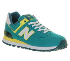 reputable site 66a6a 6a959 New Balance (NB) Wl574 Turkoois Geel Schoenen.Hot style of trainers have  good