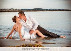 Get the dress wet, dirty, grungy, ripped, trash it in the water. Connecticut Wedding Photography