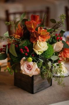 You are able to make your arrangement as elaborate or as easy as you like. These arrangements are excellent for different places in your house like the bathroom, bedroom or workplace. If you would like to make a larger arrangement… Continue Reading → Flower Arrangement Designs, Beautiful Flower Arrangements, Flower Designs, Floral Arrangements, Wedding Arrangements, Flower Centerpieces, Wedding Centerpieces, Wedding Decorations, Fall Flowers