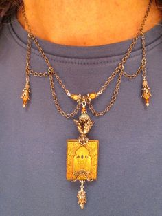 Medieval Magic Book Club Necklace with by DecoArtworkJewelry, $54.00