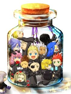Riku put all Organization XIII in a bottle... how have they not killed each other yet? XD