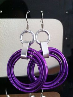 Purple Chainmaille Earrings