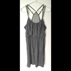 LOFT Navy blue stripe sun dress Love this jersey sundress! Loft small fits a 4-8 I would say with the stretch in it. Has a flouncy top there to conceal anything you might want to conceal  LOFT Dresses Midi