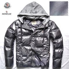 Moncler Mens Winter Down Jackets Glossy Grey With Genuine Quality - $203.15  Moncler Jackets For Men  by www.monclerlines.com/men-moncler-jacket-c-1.html