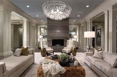 Greys and neutrals.  I like the 2 long couches with the 2 white chairs.