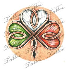 Marketplace Tattoo Celtic clover and Irish flag #13482 | CreateMyTattoo.com