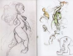 The Croods: Some Old Chris Sanders Art That I Probably Could've Passed Off As Croods Concept Art(...but I didn't. I could've, but I didn't. Doesn't that sort of journalistic integrity merit at least ONE advance screening pass? Mishka will have to wait in the car, but she's cool. She'll understand. Oh, wait. Here she comes. Shhh. Act natural.)