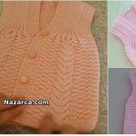 2-burgulu-bebek-yelek-tarifi Sweaters, Dresses, Fashion, Sacks, Vestidos, Moda, Fashion Styles, Sweater, Dress