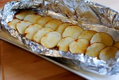 Grilled Potato Packs by iowagirleats: Not only are these potatoes absolutely amazing, with some crunchy, and some creamy, but prep and cooking are minimal and cleanup's nil. Just throw the foil away! #Potatoes #Grilled