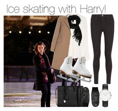 """""""Ice skating with Harry!"""" by directionermixer01 ❤ liked on Polyvore featuring Derek Lam, Gucci, Paul Smith, AG Adriano Goldschmied, Riedell, Yves Saint Laurent, Kurt Geiger and Daniel Wellington"""