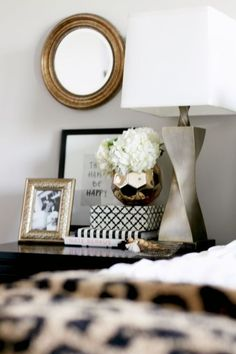 How to Style a Nightstand | Round mirrors, Style and Lamps