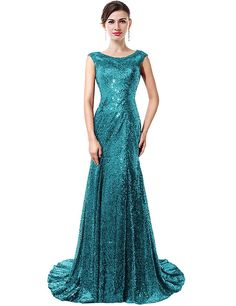 VaniaDress Mermaid Sleeveless Sequins Tulle Long Banquet Evening Dress V027LF ** Check this awesome product by going to the link at the image. (This is an affiliate link and I receive a commission for the sales)