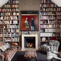 Living Room Bookcase, Modern Room, Room Design, Home Library Rooms, Living Room Modern, Living Room Diy, Living Room Art, Living Room Designs, Home Library