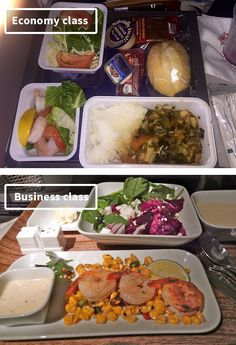 Airline Meals Economy vs First Class  Wiloo