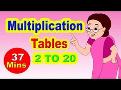 """Presenting Multiplication Tables For Children 2 to 20 """"Learn Numbers For Children 2 to It's easy to learn Numbers 2 to 20 with this. Multiplication Songs, Math Songs, Kids Songs, Math Tables, Numbers For Kids, Times Tables, Learning Numbers, Kids Videos, School Days"""