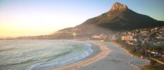 """The day would wind down with a 30 minute drive from Stellenbosch to Camps Bay in Cape Town, where I would catch the sunset on the sand with a traditional South African """"Sundowner"""" cocktail. Camps Bay Cape Town, Places To Travel, Places To Visit, South African Wine, Most Beautiful Cities, Beautiful Sunset, Cape Town South Africa, Beach Walk, What A Wonderful World"""