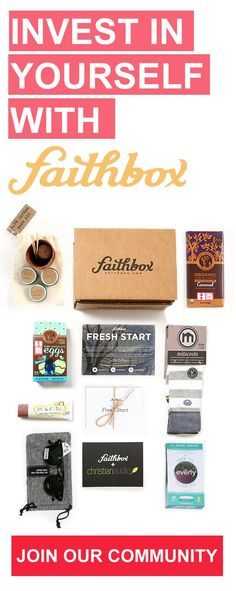 Faithbox is a monthly box for Christians that provides a daily devotional notebook every month, products from companies that respect people and creation, and feeds kids in need for every box shipped!