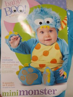 Mini Monster Baby Toddler Hallowen Costume Large 18 Month to 2 T New 2 Piece #InCharacter #CompleteCostume