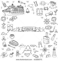 Real Cruise Ship coloring page for kids, transportation