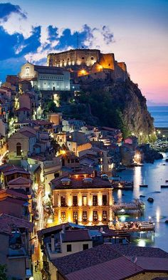Serene evening in Sicily, Italy. #Sicily #Italy #travel #bucketlist #wanderlust #Mediterranean #island #lights