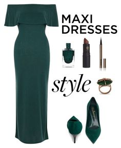 """""""Maxi Dress"""" by iamniharika ❤ liked on Polyvore featuring River Island, Lipstick Queen and Hourglass Cosmetics"""