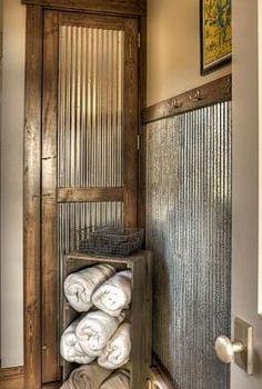 Galvanized sheet metal above the bar