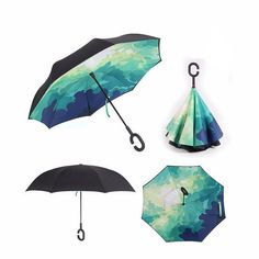 New Inverted Self Stand Reverse Windproof Umbrella - Big Star Trading Store