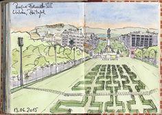 Urban Sketchers Portugal: Parque Eduardo VII