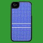 Blue and White Polka Dot iPhone 4 Case - ipad/iphone/ipod cases by helikettle
