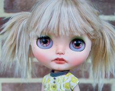 OOAK University of Love Customized Blythe Doll with Alpaca Reroot - Astrid