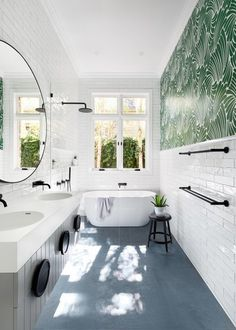 Long Narrow Bathroom Layout Beautiful 8 Narrow Bathrooms that Rock Tubs In the Shower Downstairs Bathroom, Bathroom Renos, Bathroom Layout, Bathroom Interior Design, Bathroom Renovations, Bathroom With Window, Scandinavian Bathroom Design Ideas, Bad Inspiration, Bathroom Inspiration