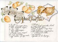 Apricot fried pie recipe, Heather Davulcu, Oh My! Dried Peaches, Dried Apples, Cookbook Recipes, Pie Recipes, Dessert Recipes, Apricot Fried Pies Recipe, Southern Recipes, Southern Desserts, Vintage Recipes