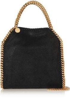 Stella Mccartney The Falabella Mini Faux Brushed-Leather Shoulder Bag