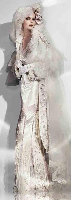 John Galliano (via Weddings Then & Now ♔)