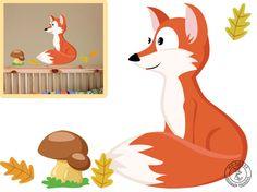 Wandtattoo Fuchs Waldtiere I. Kinderzimmer Wald von MHBilder-Design auf DaWanda.com