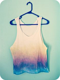 the Metric Child: DIY// ombre tank top